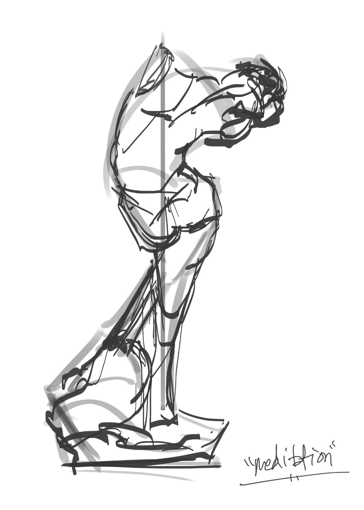 """Rodin's """"The Thinker"""" and """"The Meditation"""""""