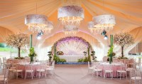 Wedding Ceiling Drapes With Lights- Add Stars to Your Event