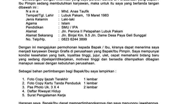 Contoh Surat Lamaran Kerja Untuk Pt Yamaha Contoh Surat Cute766