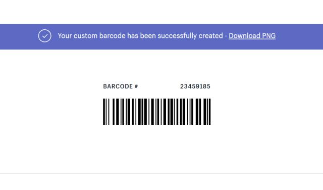 可以利用Shopify的條碼產生器產生條碼。