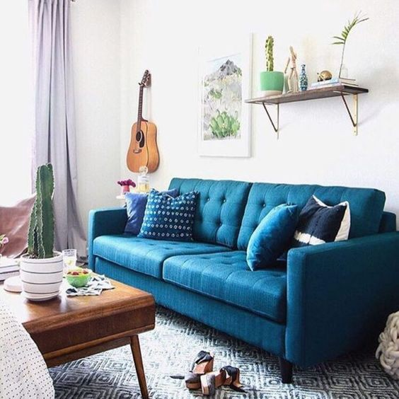 sofa blue color loveseat bed philippines humble hues the five best colors for sofas france son medium your palette but can add a touch of unexpected depending on shade you choose it act as neutral or be statement piece