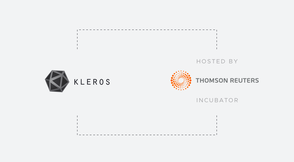 Kleros Joins Thomson Reuters Incubator to Build a Justice
