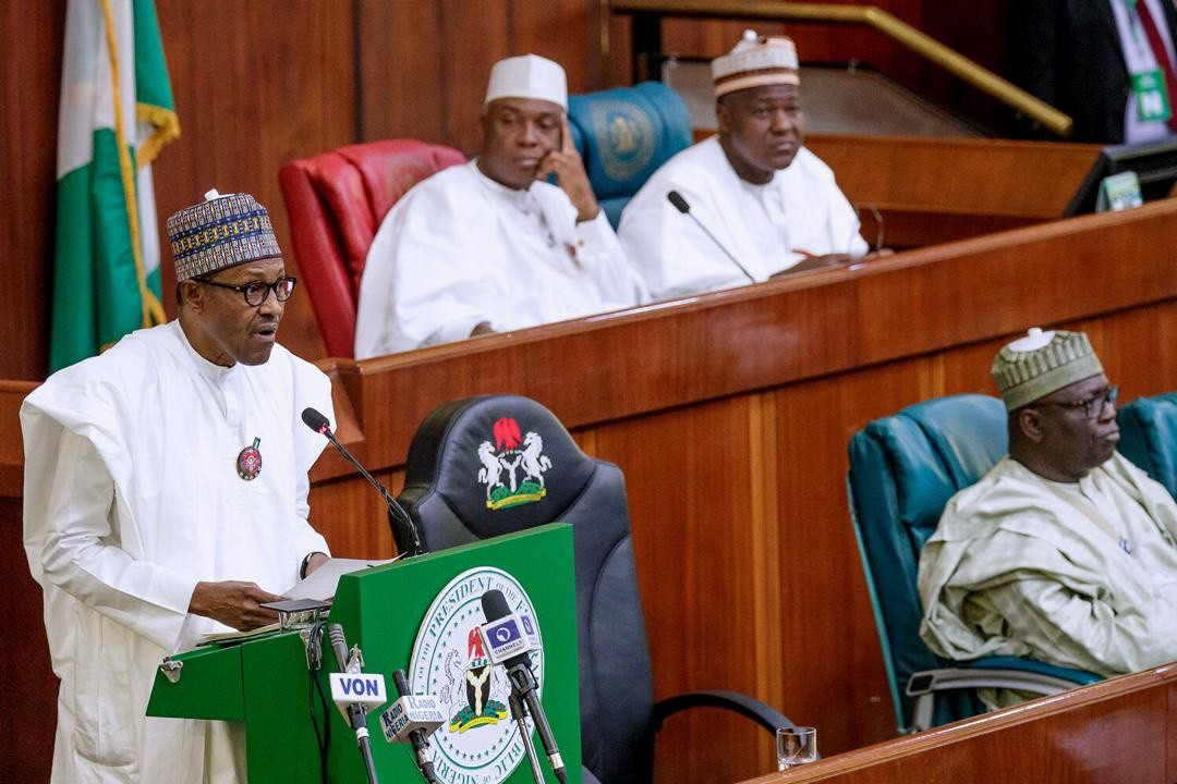 Image result for I had a bad relationship with National Assembly under Saraki, Dogara — Buhari