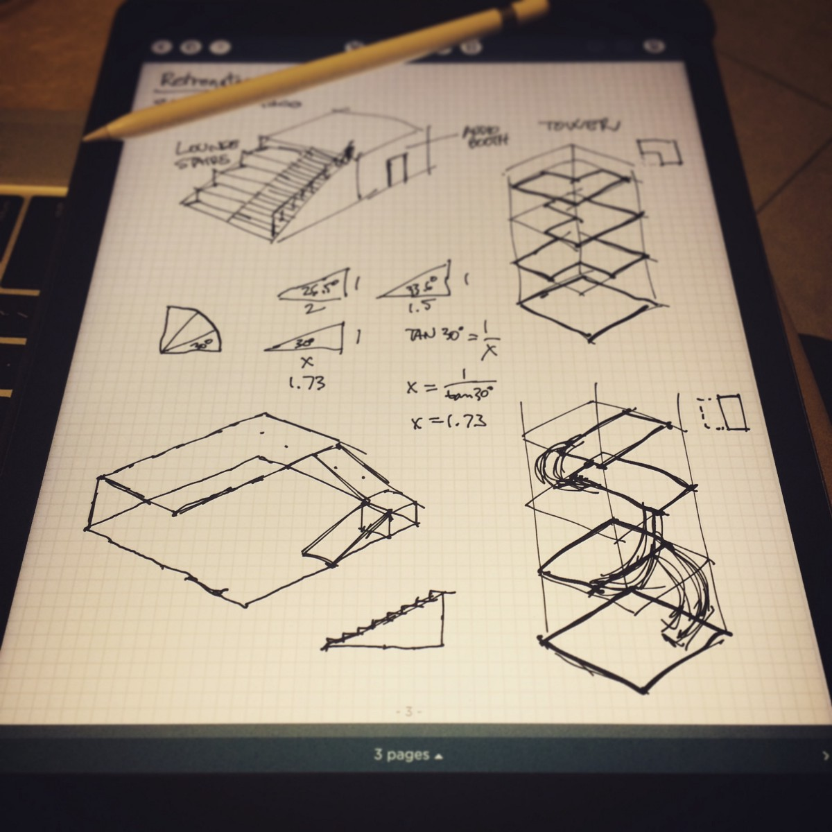 hight resolution of ipad pro and apple pencil are not only a complete replacement for drawing sketching taking notes drawing diagrams designing algorithms they re a true