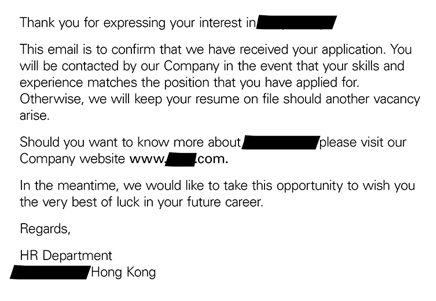 """Thank You For Expressing Your Interest In Our Company"