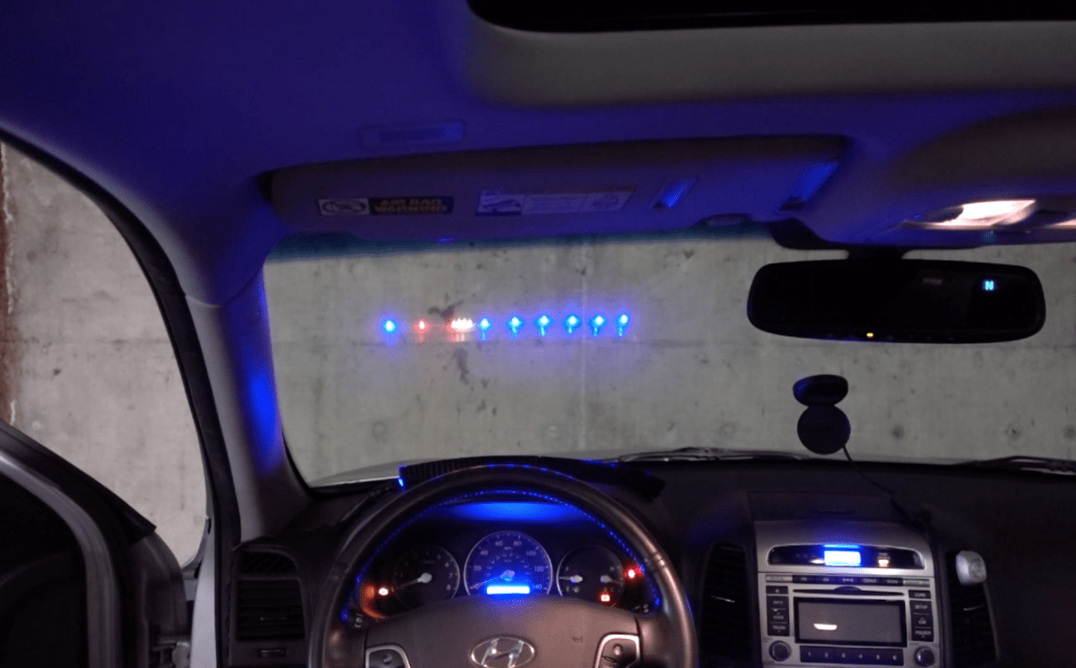 An LED Strip HeadsUp Display HUD for Your Car  Hackster Blog