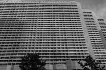 Dprk North Korea Balconies Building And Dark T