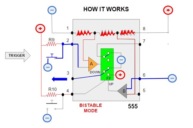 Internal Structure Of 555 Timer Modes In 555 Timer