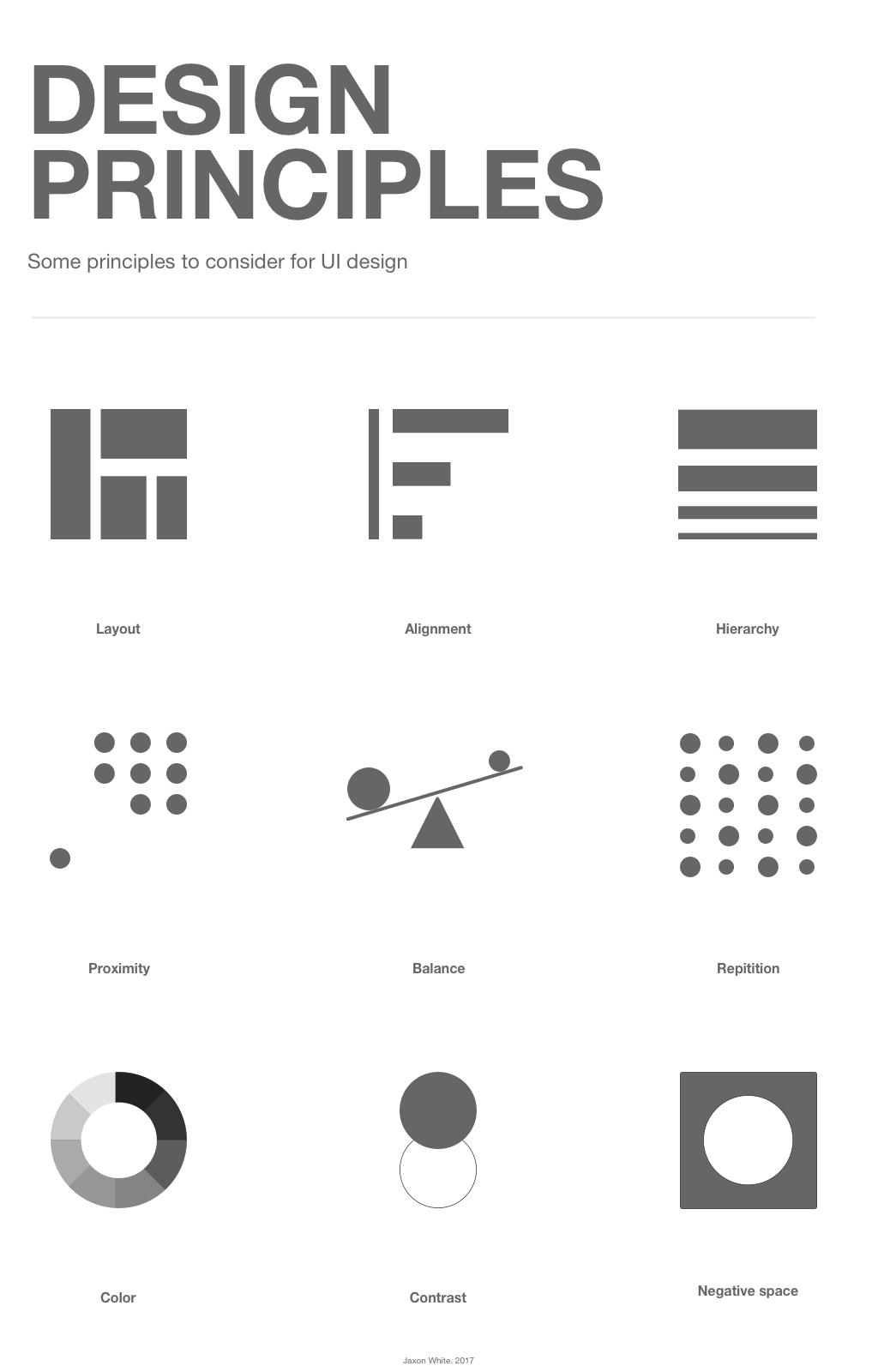 Visual design principles – Jaxon White