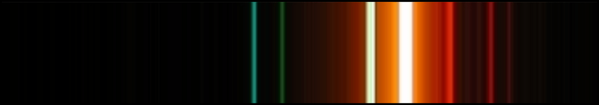 Sodium vapour lights have two very strong emission bands in the yellow, but they also have several other emission lines at different frequencies: