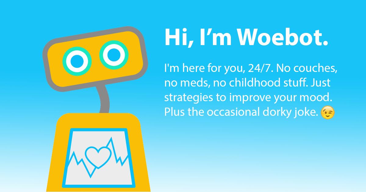 Woebot AI for mental health  Andrew Ng  Medium
