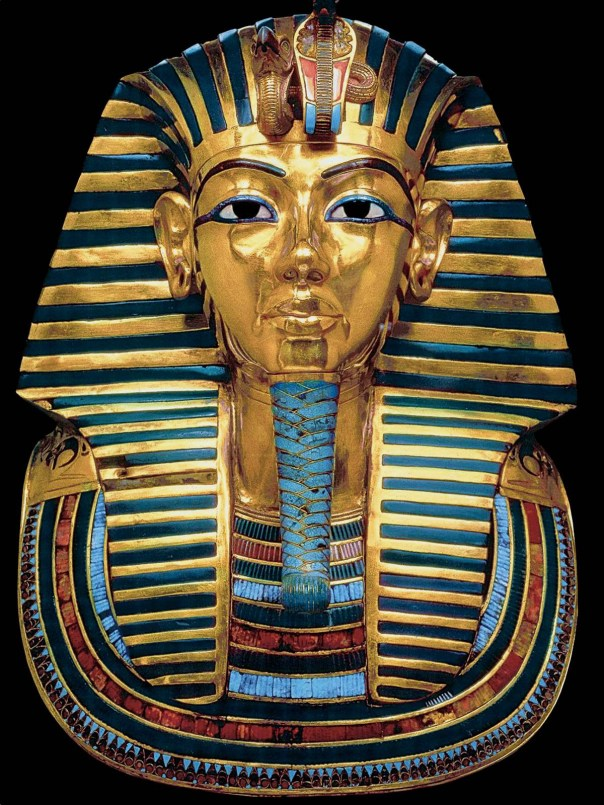 The most magnificent treasure of all — the pharaoh's burial mask.