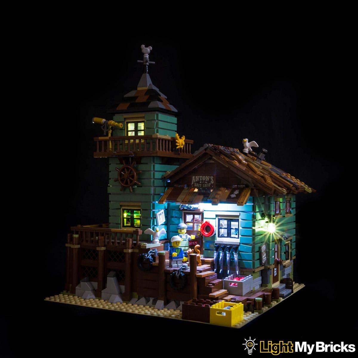 Light My Bricks Old Fishing Store Lighting Kit  Light My