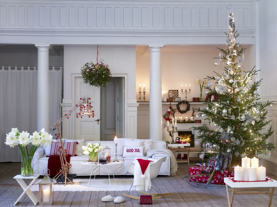 beautiful living rooms at christmas affordable room furniture decorating for holiday