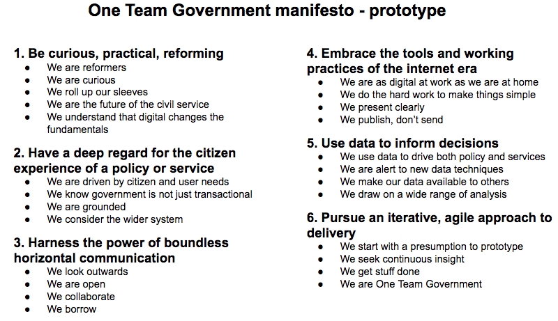 Prototyping A One Team Government Manifesto – Paul Maltby