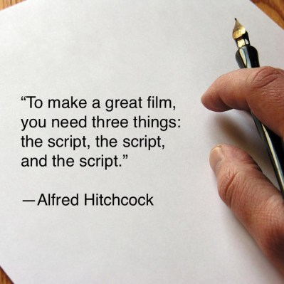 A quote about screenwriting for films