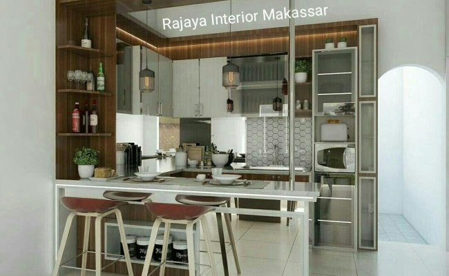 Jasa Pembuatan Kitchen Set Mini Bar Murah Makassar Call