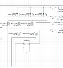 my schematic of the first circuit breaker panel wiring for the mai kai [ 1200 x 873 Pixel ]