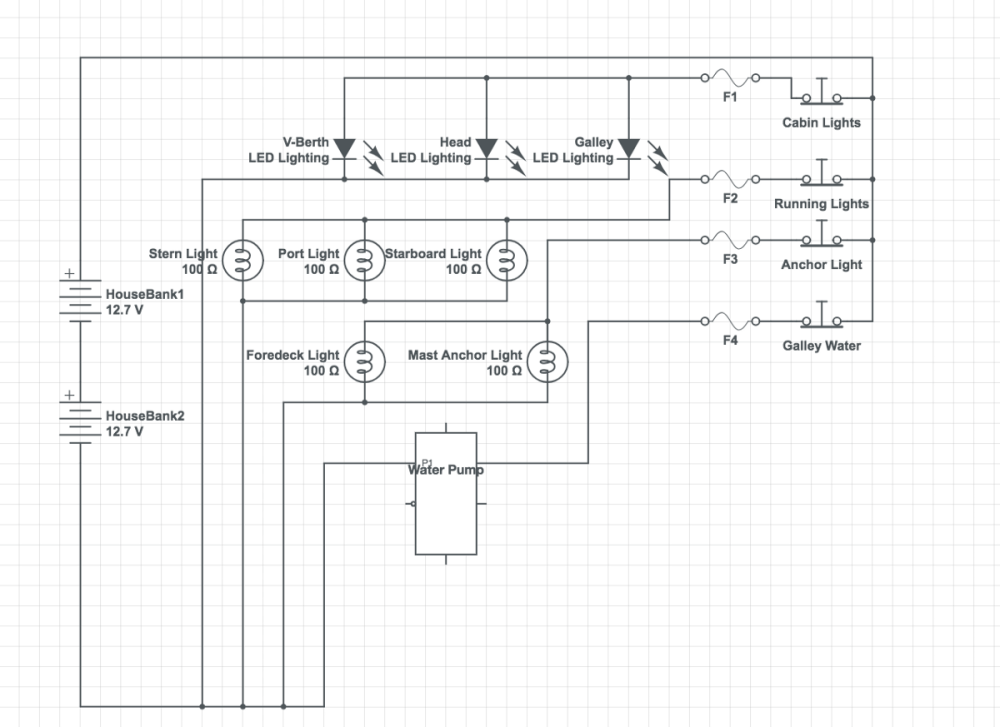 medium resolution of my schematic of the first circuit breaker panel wiring for the mai kai