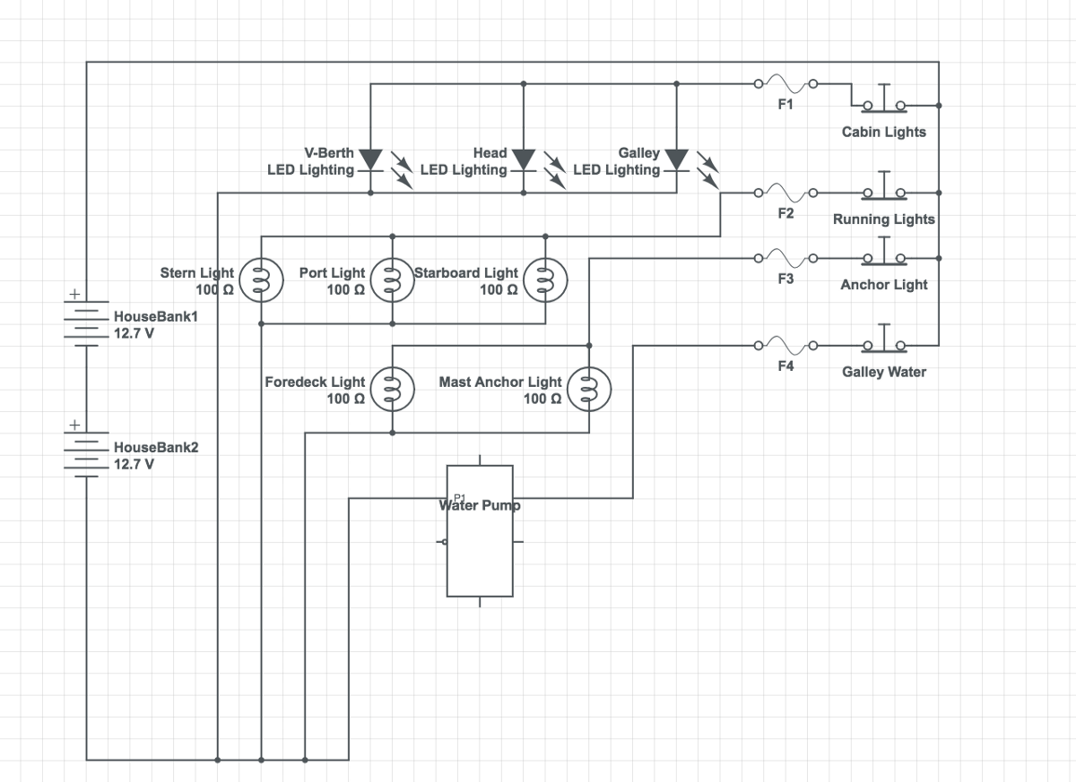 hight resolution of my schematic of the first circuit breaker panel wiring for the mai kai