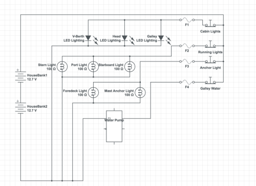 small resolution of my schematic of the first circuit breaker panel wiring for the mai kai