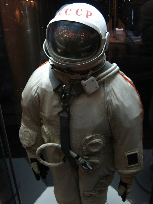 An original cosmonaut spacesuit on display in Moscow (credit: Petar Milošević)