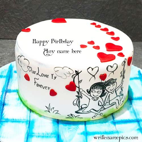 Love Birthday Cake With Name Writenamepics Medium