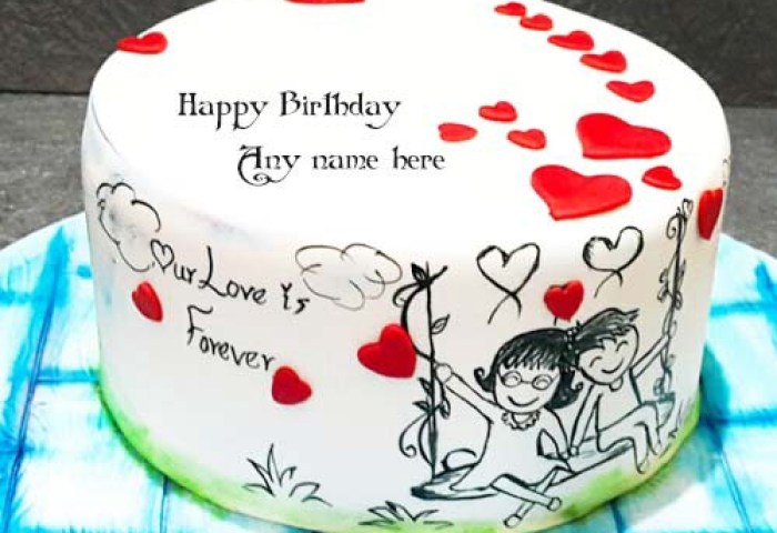 Love Birthday Cake With Name Writenamepics Medium