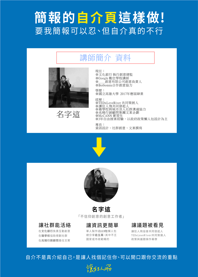 自我介紹不尷尬!PPT自介模板下載 – graphic design:Flying info – Medium