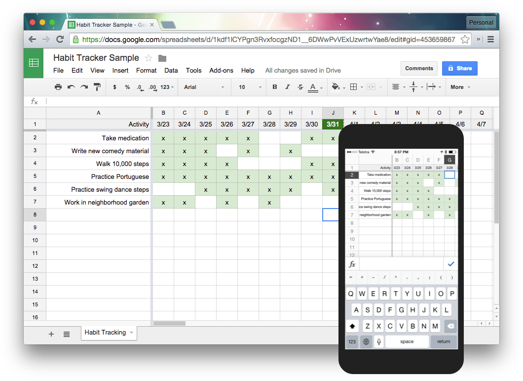 Tracking Habits With Sheets Harold Kim Medium