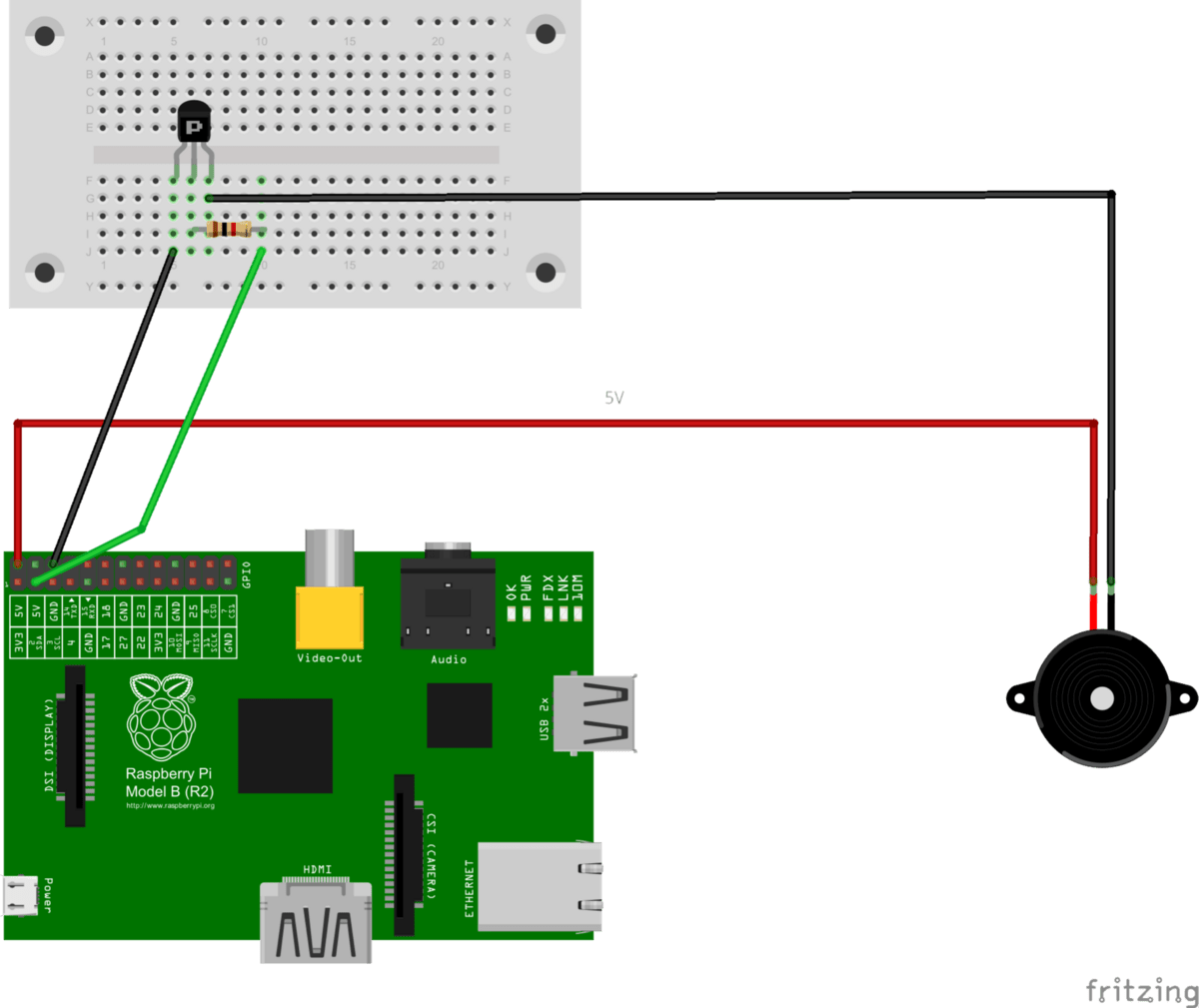 raspberry pi 3 model b wiring diagram stihl 015 parts temperature controlled fan hacker noon pin 6 ground will be connected over the transistor with 2nd wire
