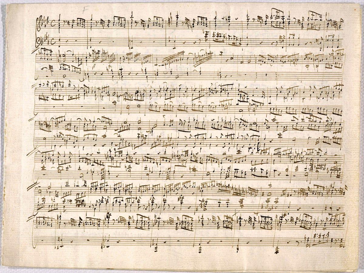 Mozart S Vs Beethoven S Handwritten Sheet Music Bmsb