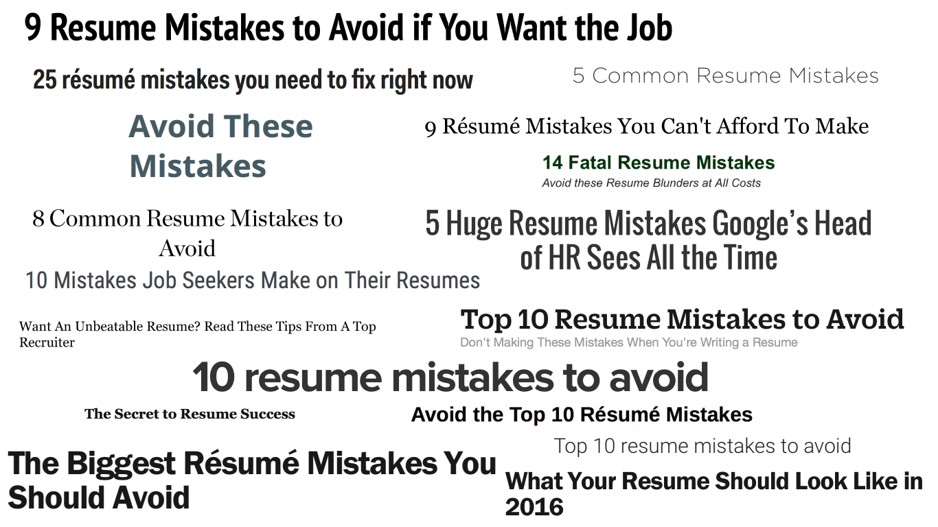 Resume Mistakes 468 Résumé Mistakes You Are Making Right Now Valerie Jane Medium