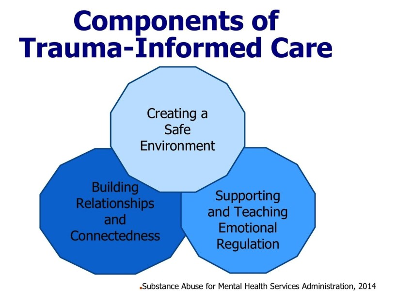 Components of trauma-informed care, SAMHSA, 2014