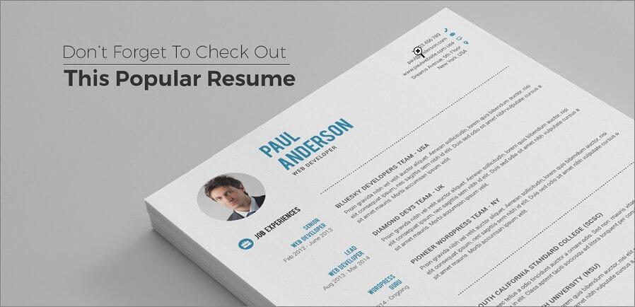 resume for designer