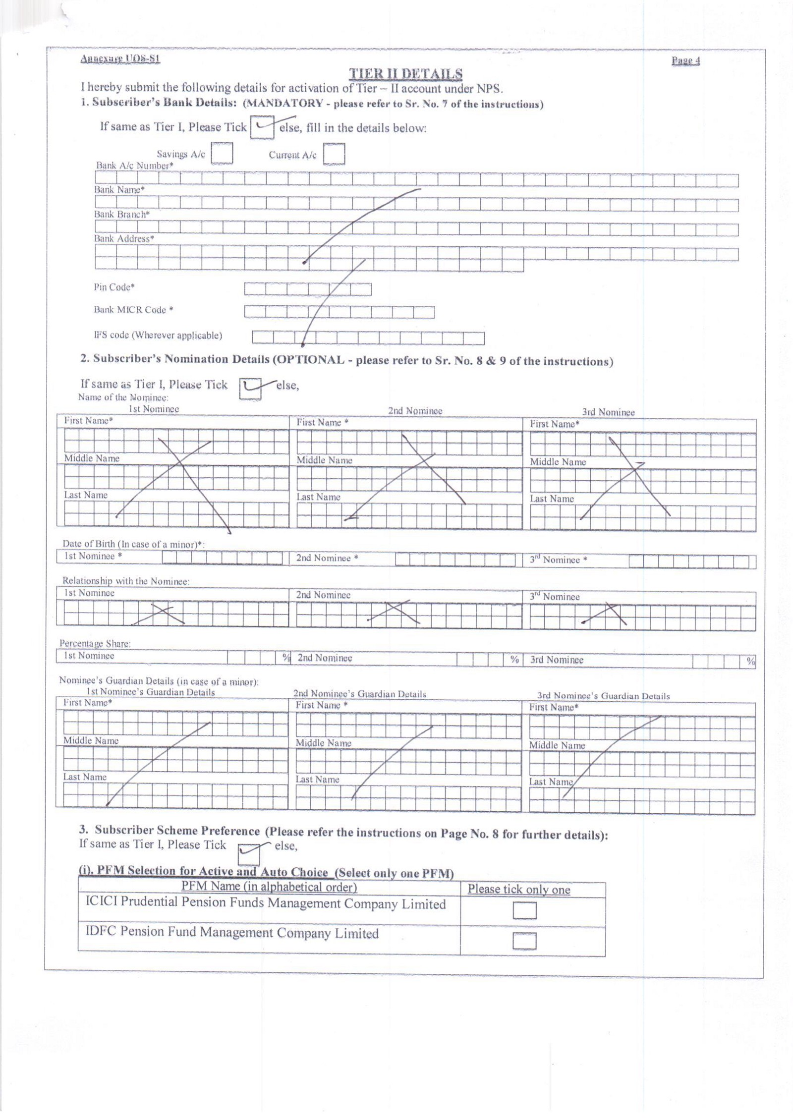 NEW PENSION SYSTEM (NPS)-HOW TO FILL FORM