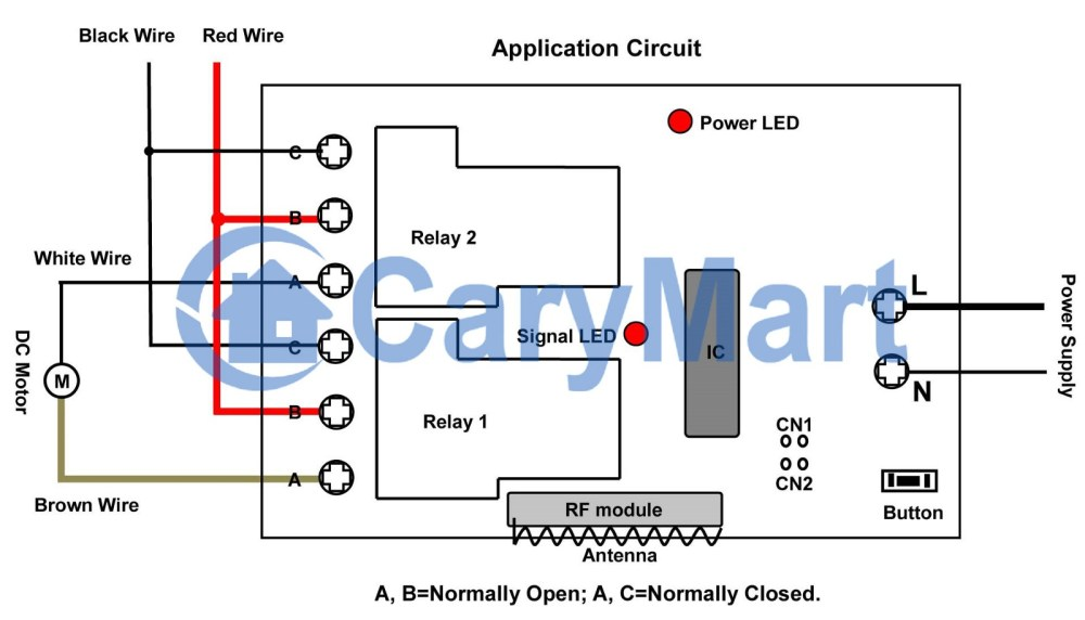 medium resolution of so we drew a wiring diagram the black and red wires picture above will be connected to terminals c and terminals b on relay 1 relay 2 respectively