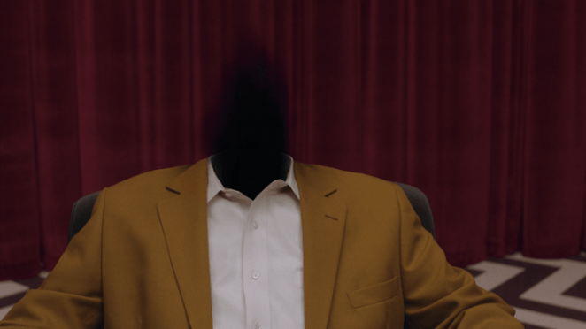Black fire fills the body of a tulpa in Twin Peaks: Season 3 (2017)