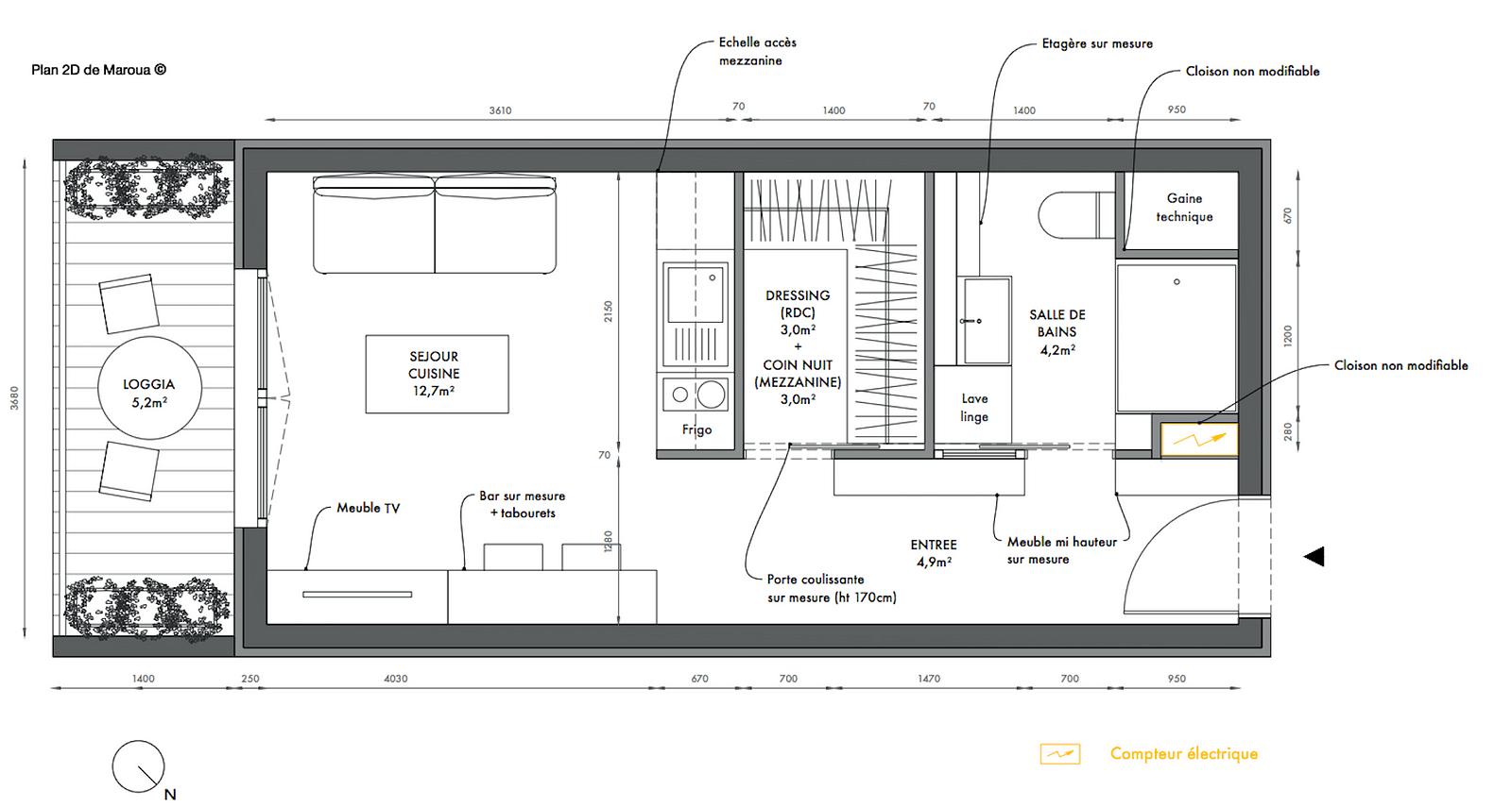 Plan De Studio Avec Mezzanine - Décoration de maison idées de design ...
