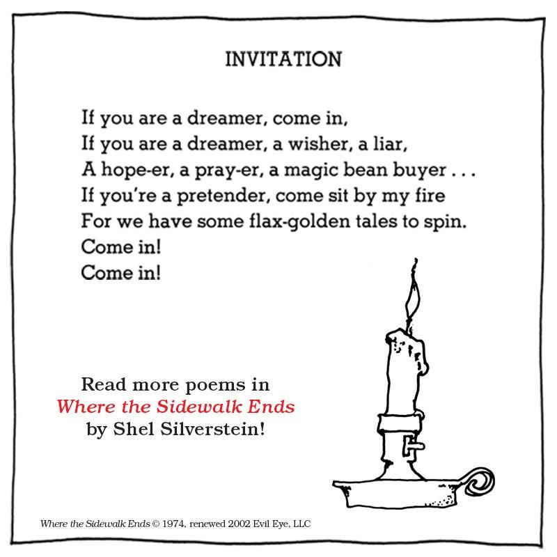poems by shel silverstein Textpoemsorg