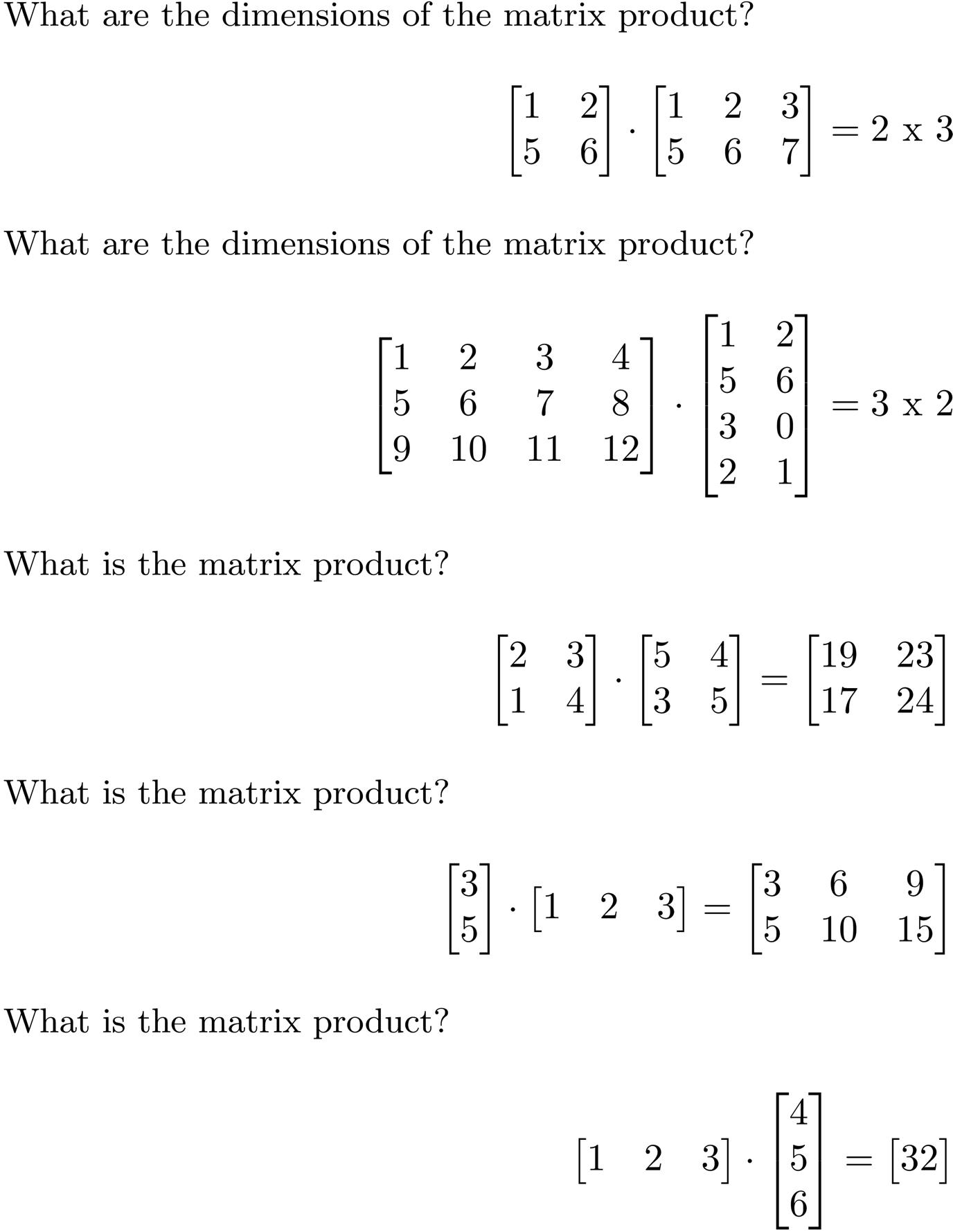 Linear Algebra Cheat Sheet For Deep Learning Towards Data Science