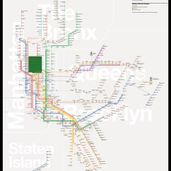 New York City Subway Diagram 1997 Dodge Dakota Coil Wiring The Map Redesigned  Tommi Moilanen