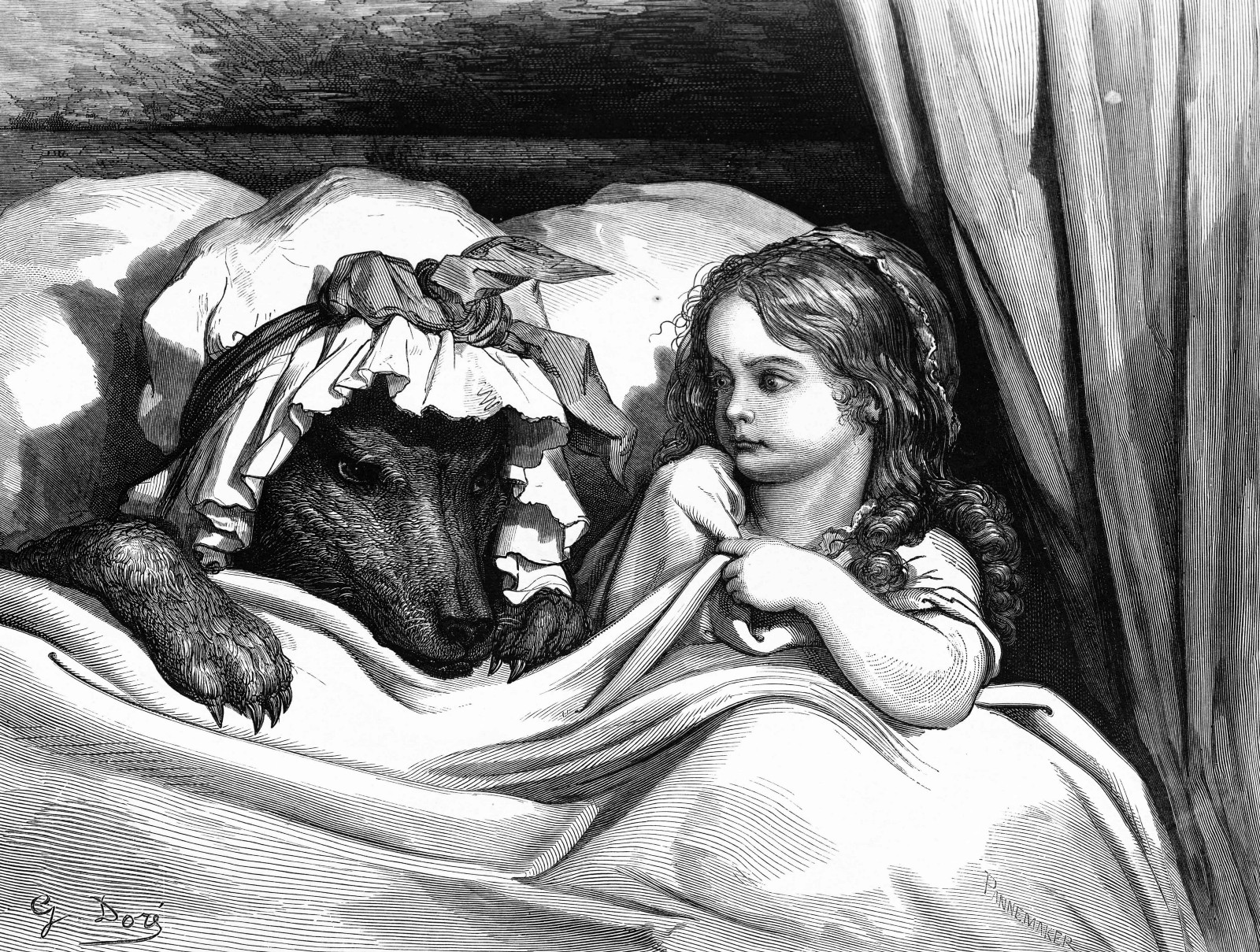 """Little Red Riding Hood,"" illustrated by Gustave Doré, via Tulane University."