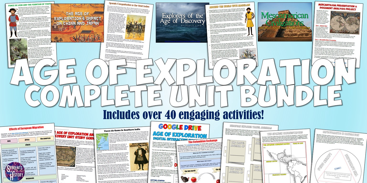 Age Of Exploration Amp Discovery Activities Students Of