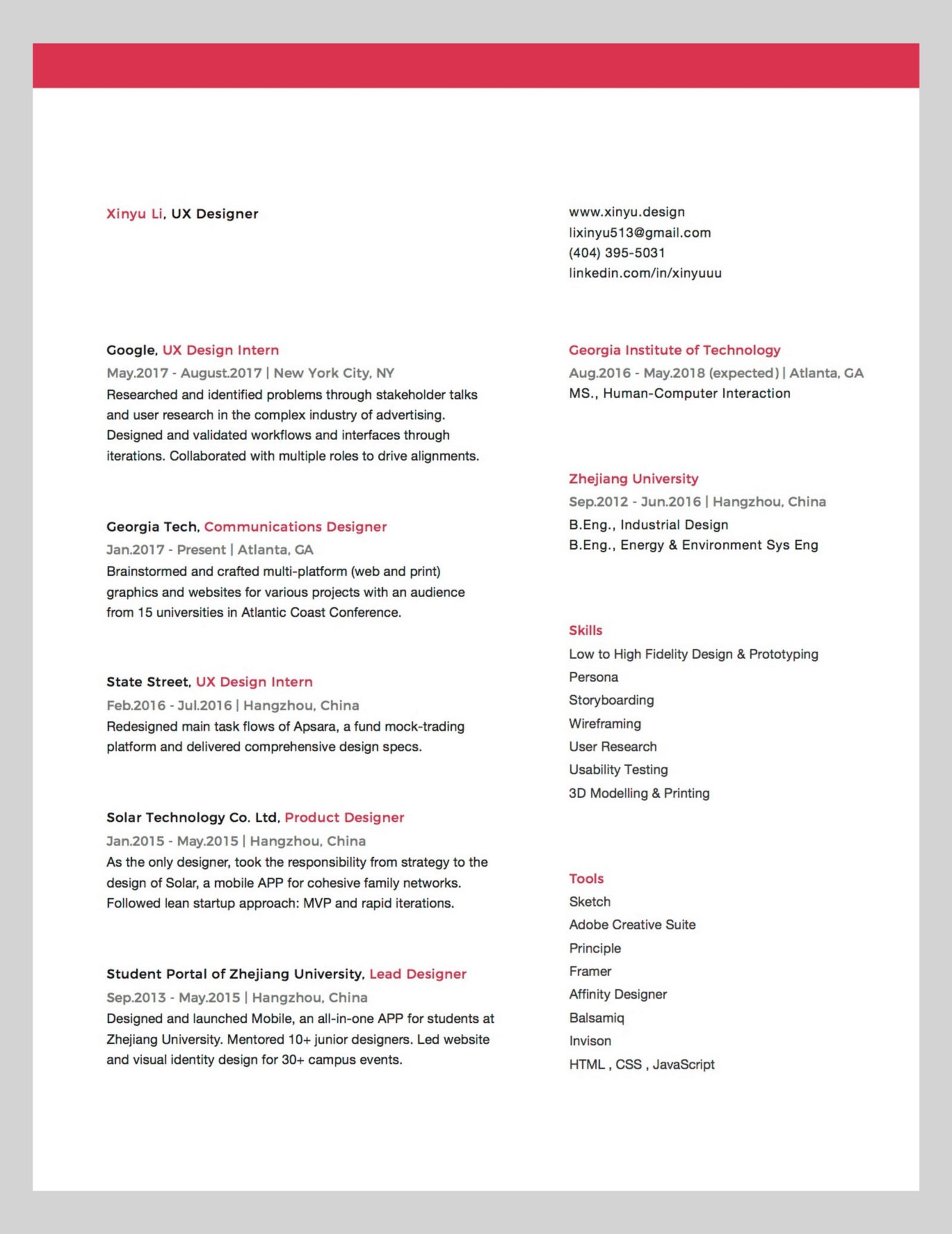 Resume Designer 10 Amazing Designer Resumes That Passed Googles Bar