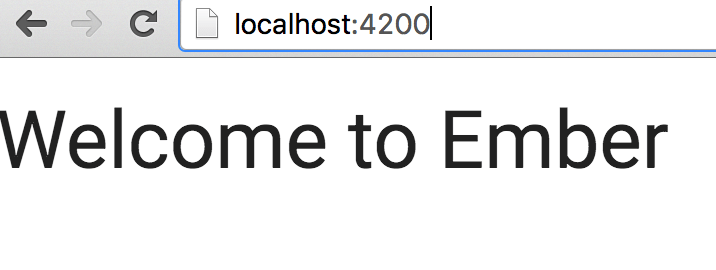 How to set up a Basic Ember.js app