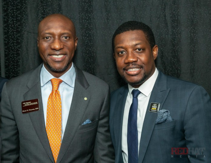 With the CEO of Nigerian Stock Exchange Mr. Oscar Onyeama