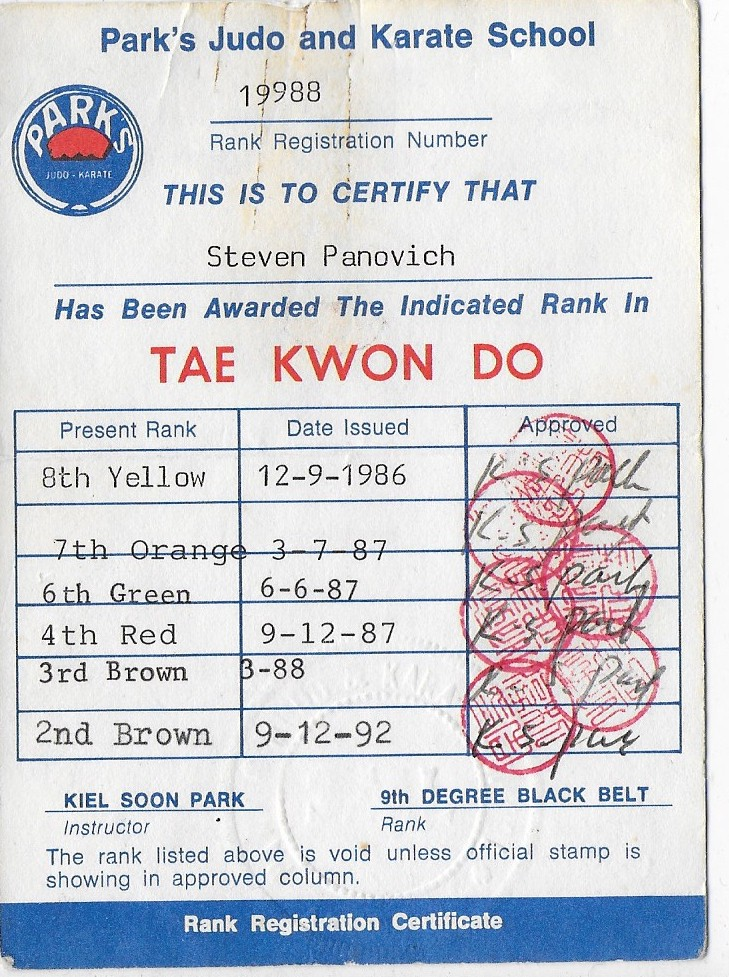 examples of black belt martial arts resume