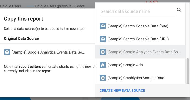 New Data Source…(BigQuery and Data Studio)
