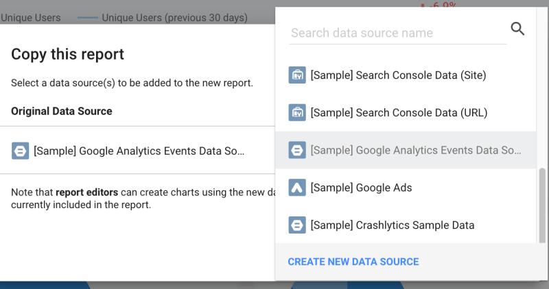 New Data Source…(BigQuery and Data Studio)